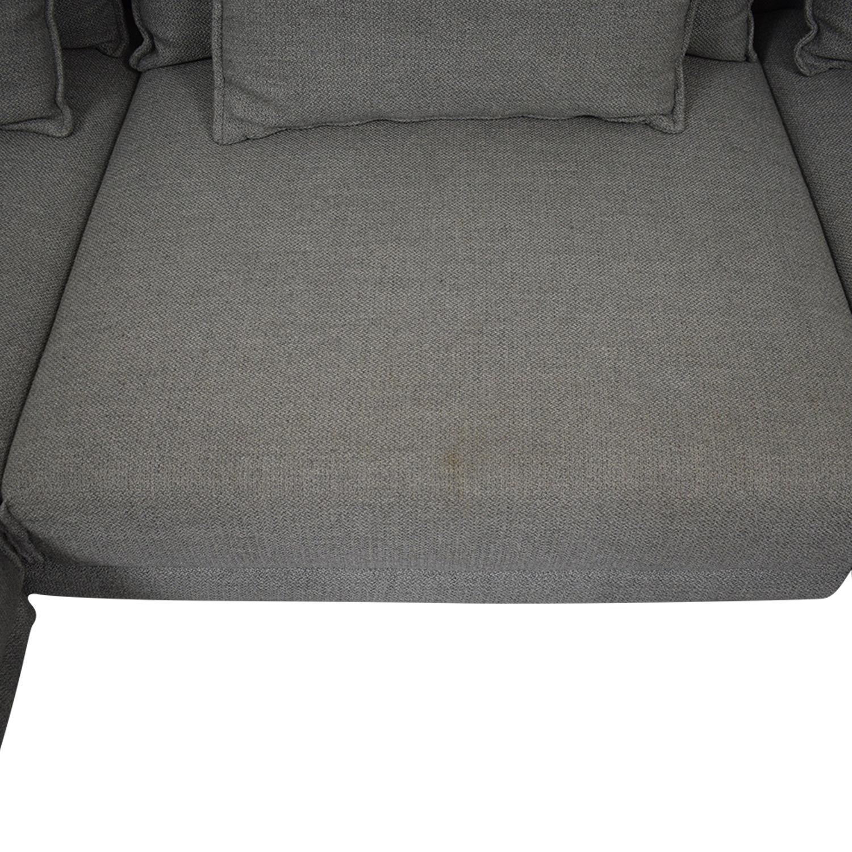 West Elm Halsey Four Piece Sectional Sofa / Sofas