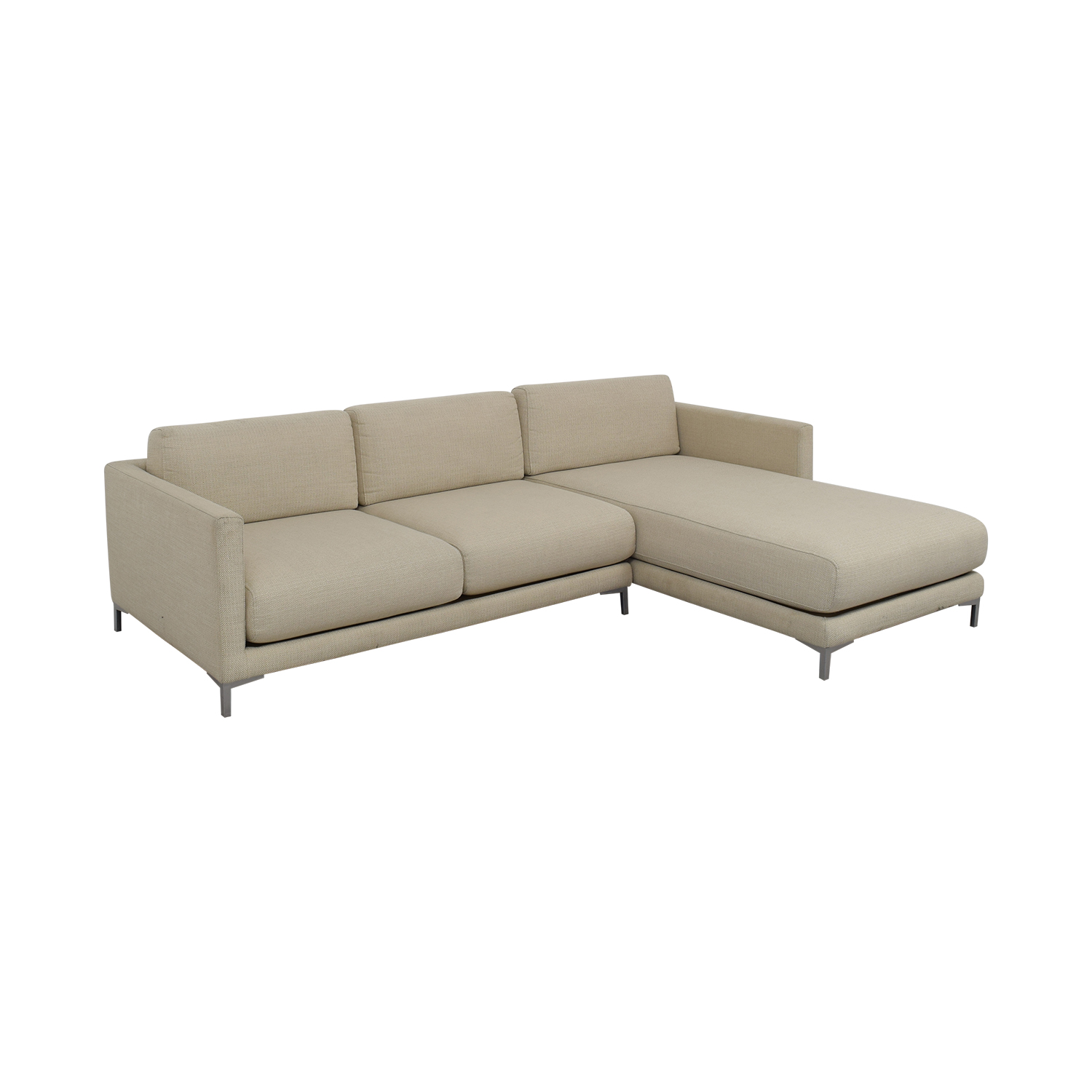 CB2 District Sectional Sofa with Chaise / Sectionals