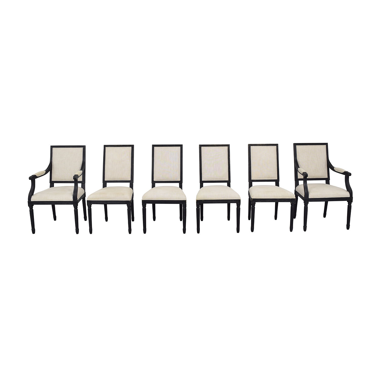 shop Restoration Hardware Restoration Hardware French Square Back Chairs online