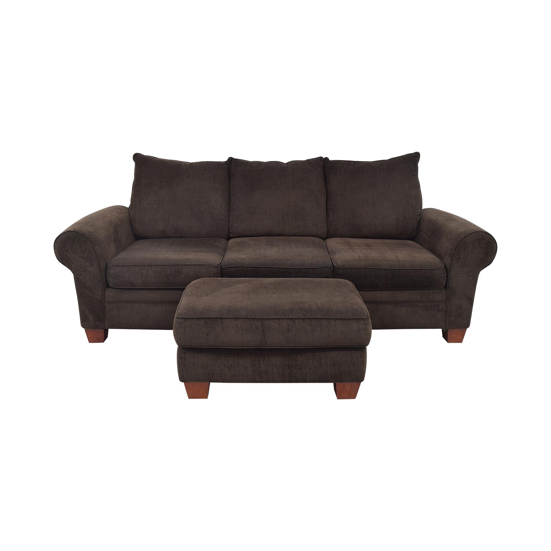 Klaussner Kazler K57000 Sofa and Ottoman / Classic Sofas