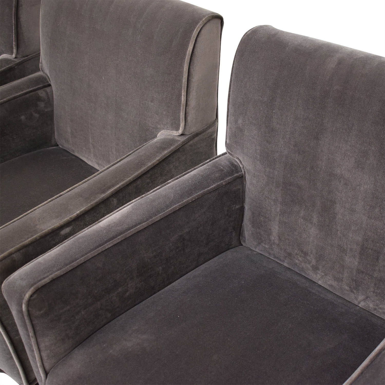 Williams Sonoma Williams Sonoma  Fitzgerald Dining Chairs dark gray