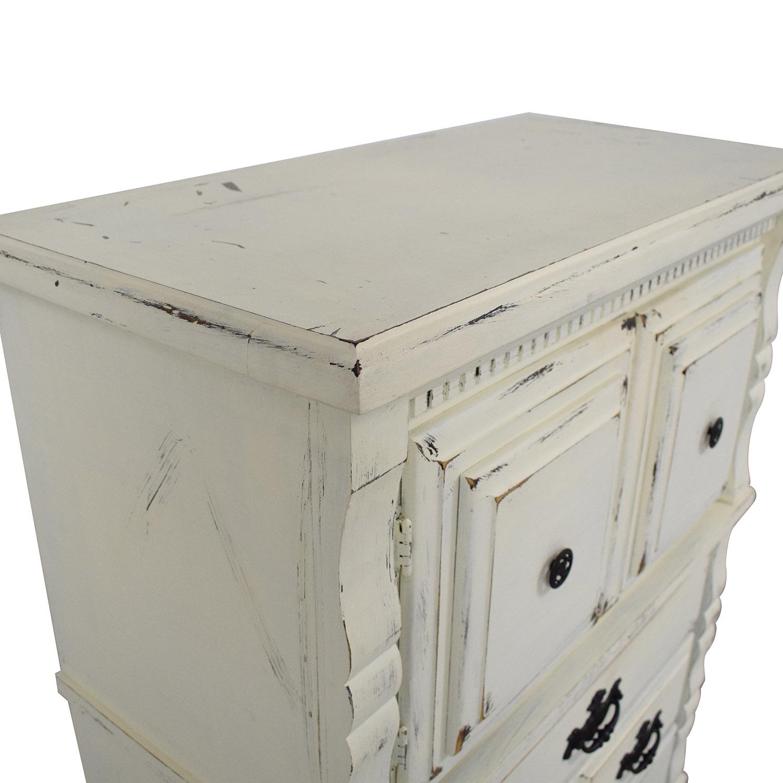 Custom Painted Solid Wood Dresser Storage