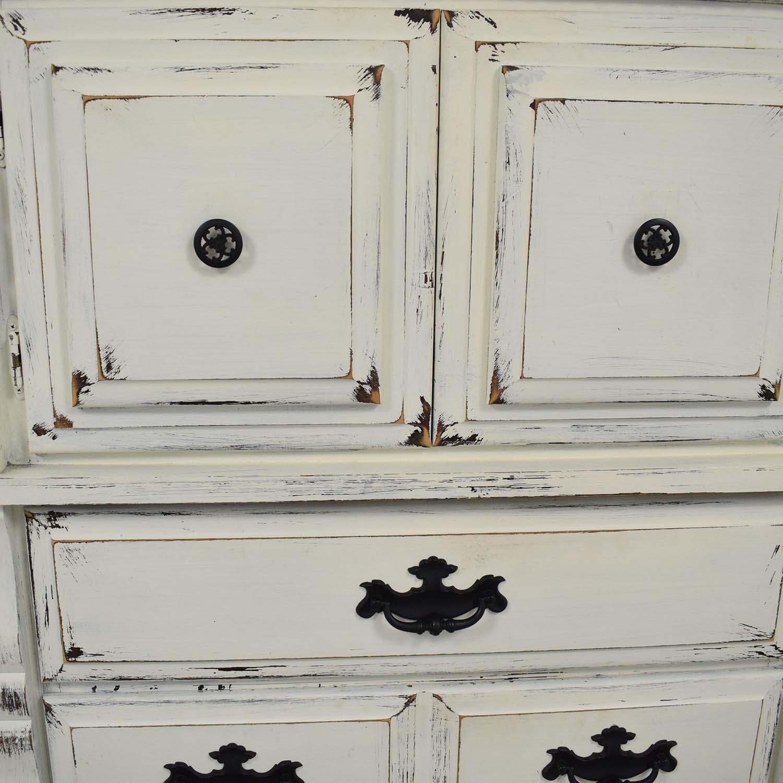 Custom Painted Solid Wood Dresser second hand