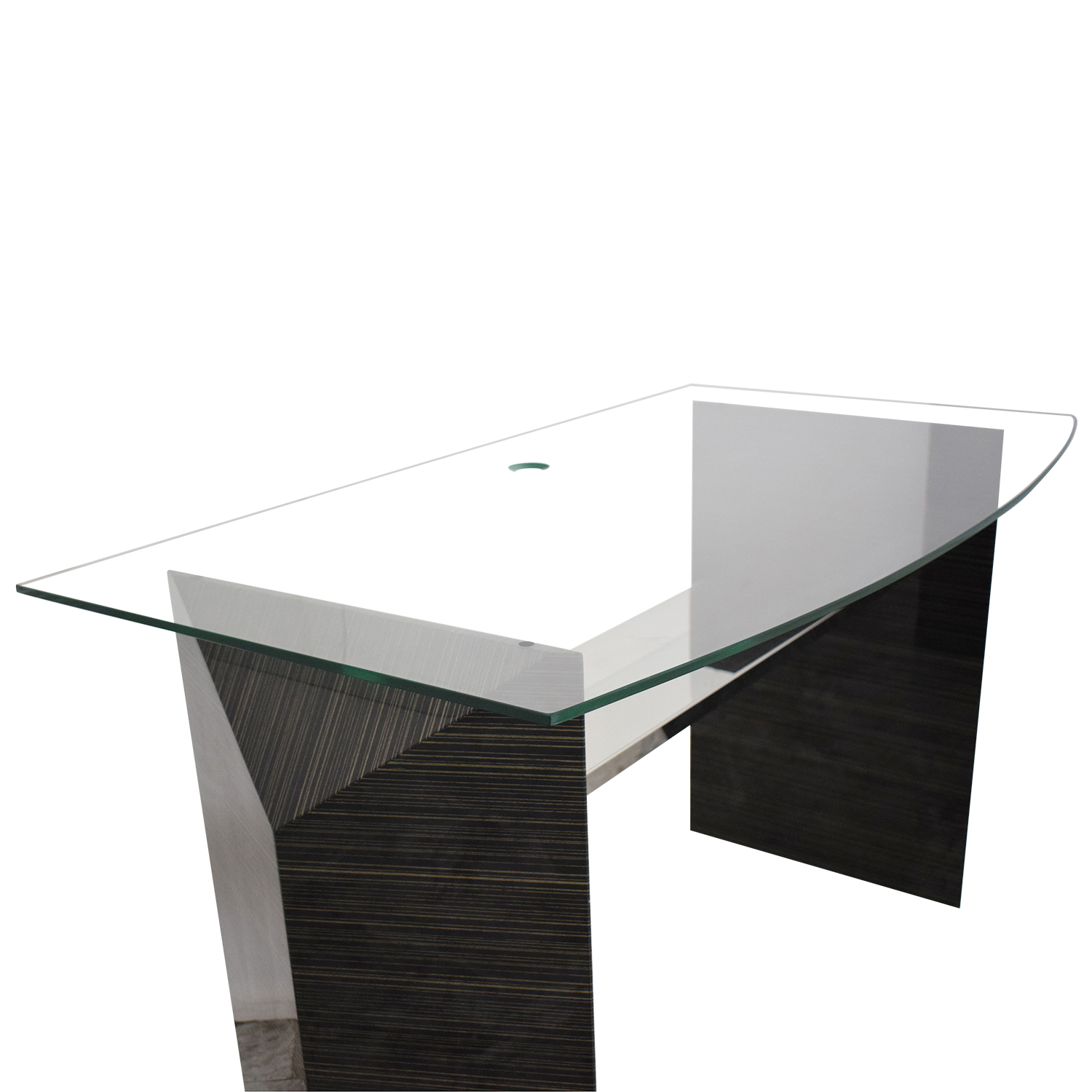 Glass Home Office Desk used