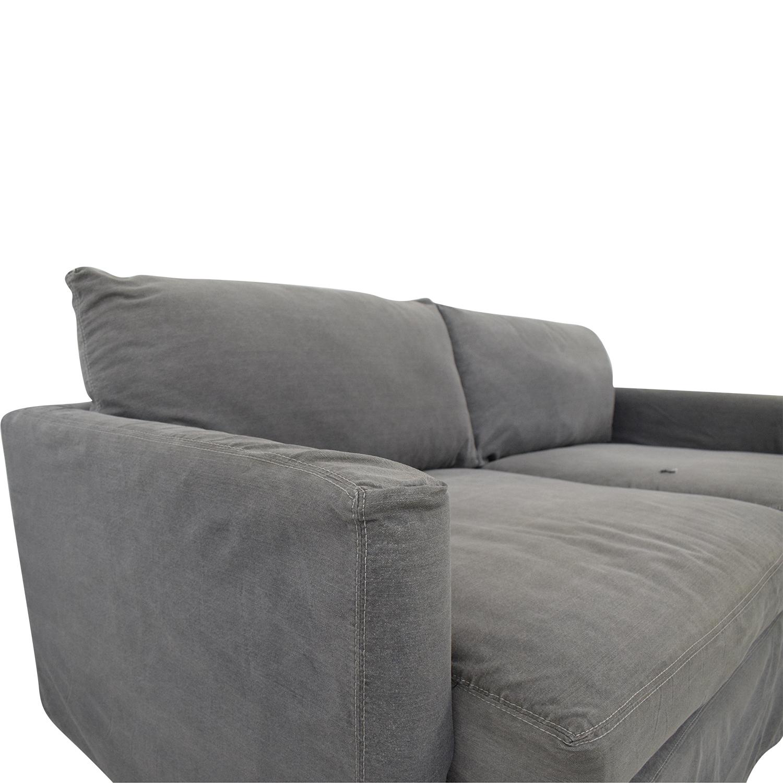 Crate & Barrel Lounge II Petite Slipcovered Sofa Crate & Barrel