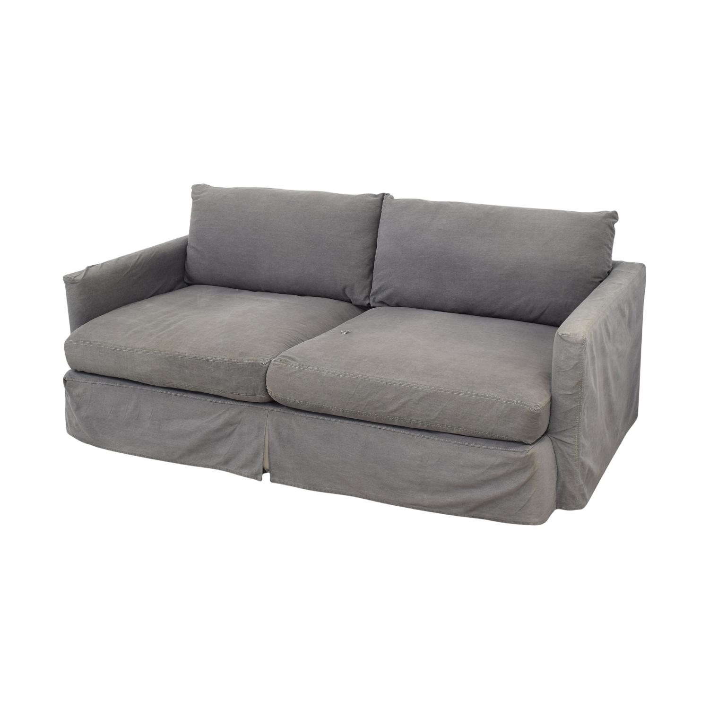 Crate & Barrel Crate & Barrel Lounge II Petite Slipcovered Sofa Sofas
