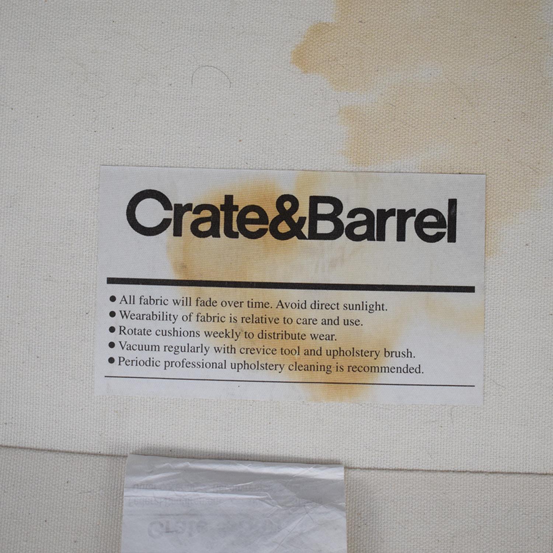 shop Crate & Barrel Lounge II Petite Slipcovered Sofa Crate & Barrel Sofas