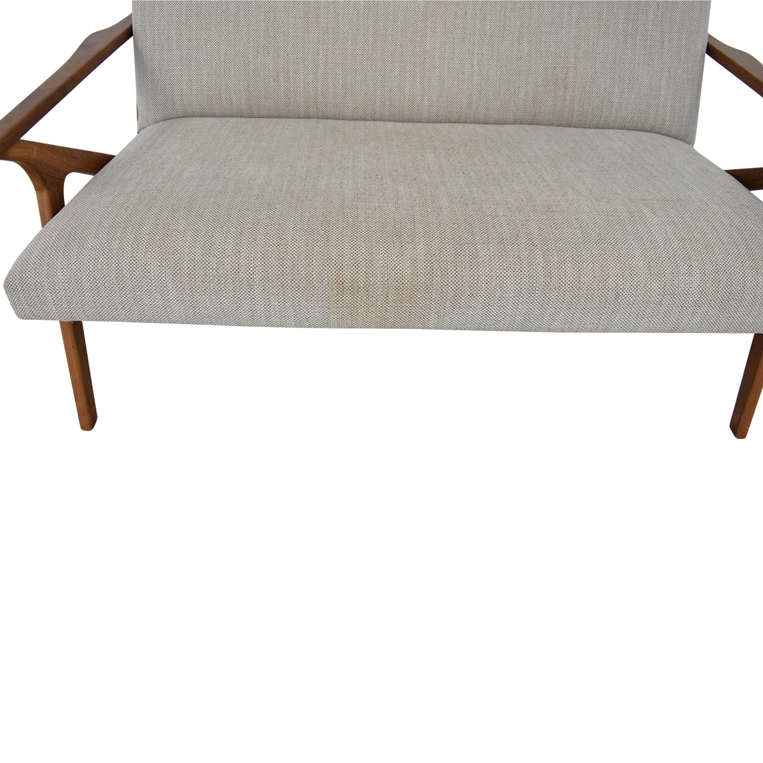 Crate & Barrel Crate & Barrel Cavett Frame Wood Love Seat Loveseats