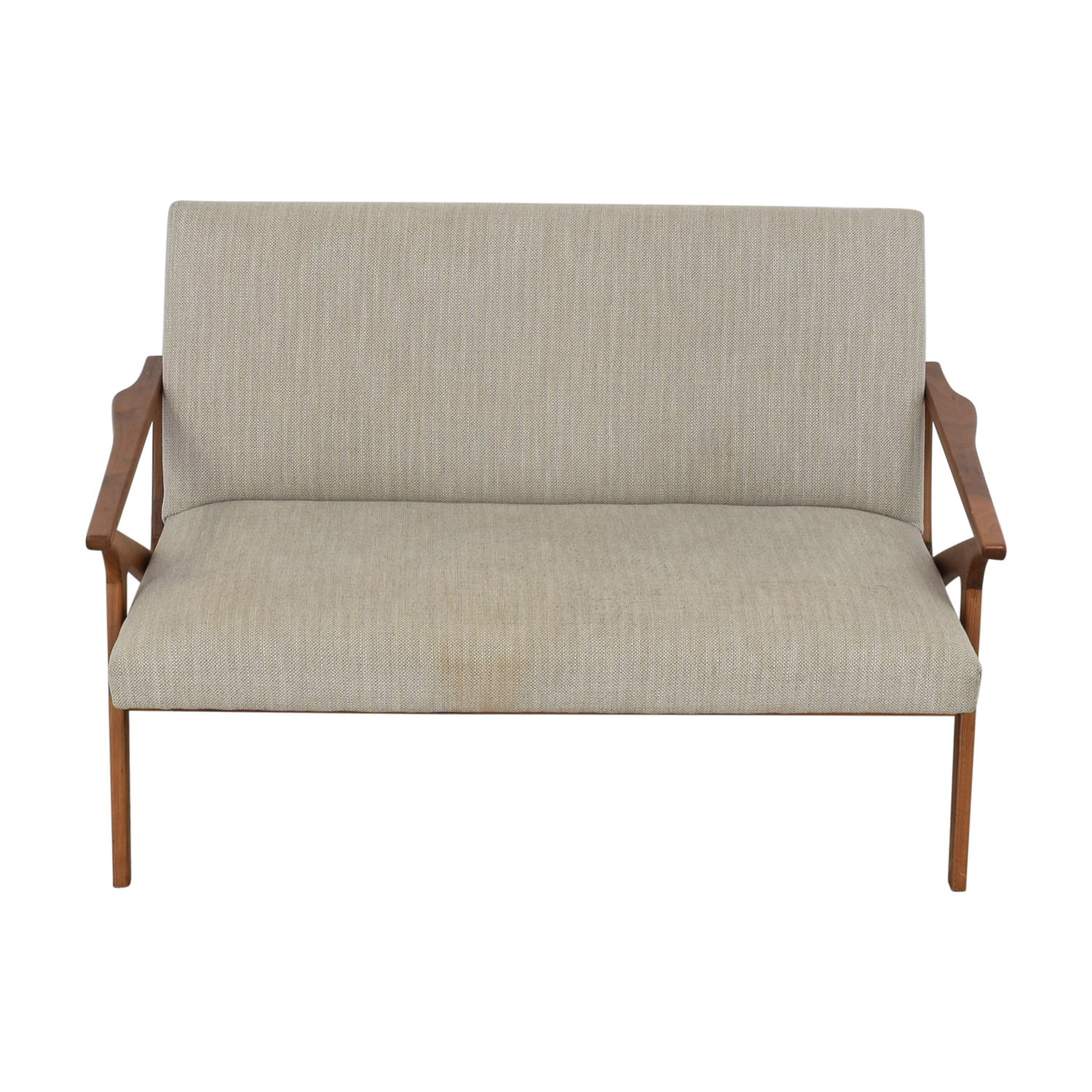 buy Crate & Barrel Cavett Frame Wood Love Seat Crate & Barrel Sofas