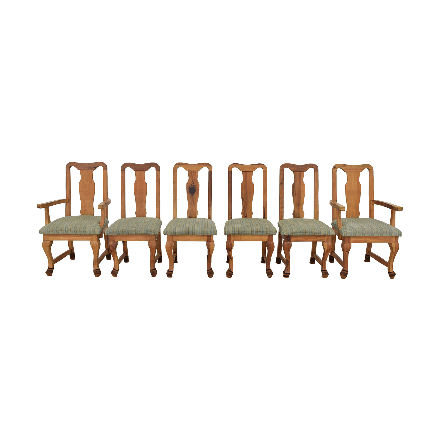 Jensen-Lewis Jensen-Lewis Fiddle Back Dining Chairs multi colored