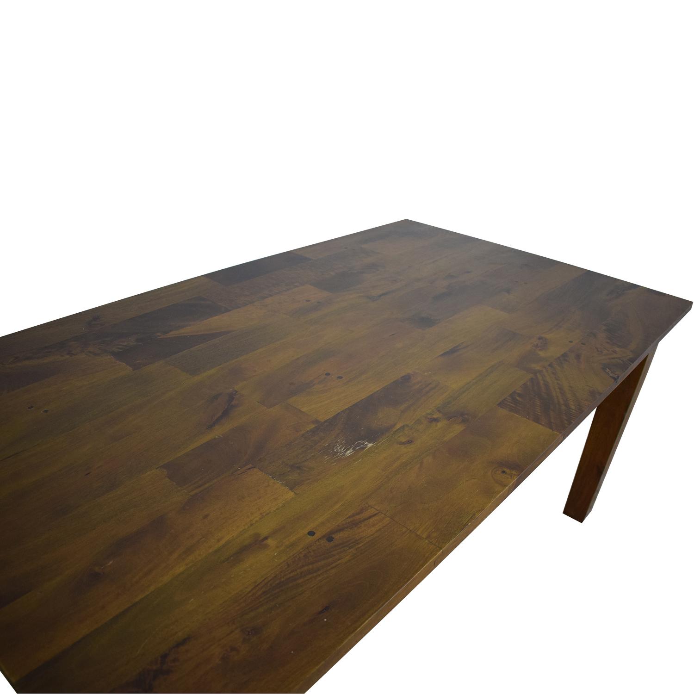 Crate & Barrel Crate & Barrel Basque Honey Dining Table dimensions
