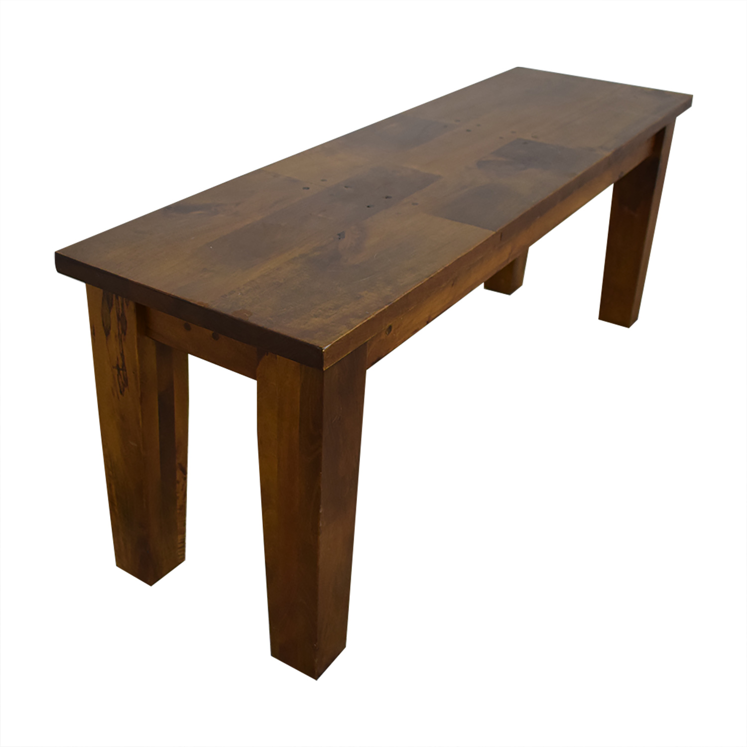 Crate & Barrel Crate & Barrel Basque Honey Dining Bench Chairs