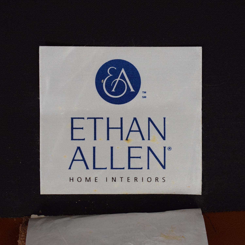 shop Ethan Allen Three Cushion Sofa with Ottoman Ethan Allen Sofas
