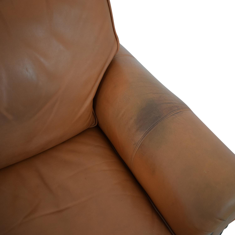 Ethan Allen Ethan Allen Three Cushion Sofa with Ottoman ct