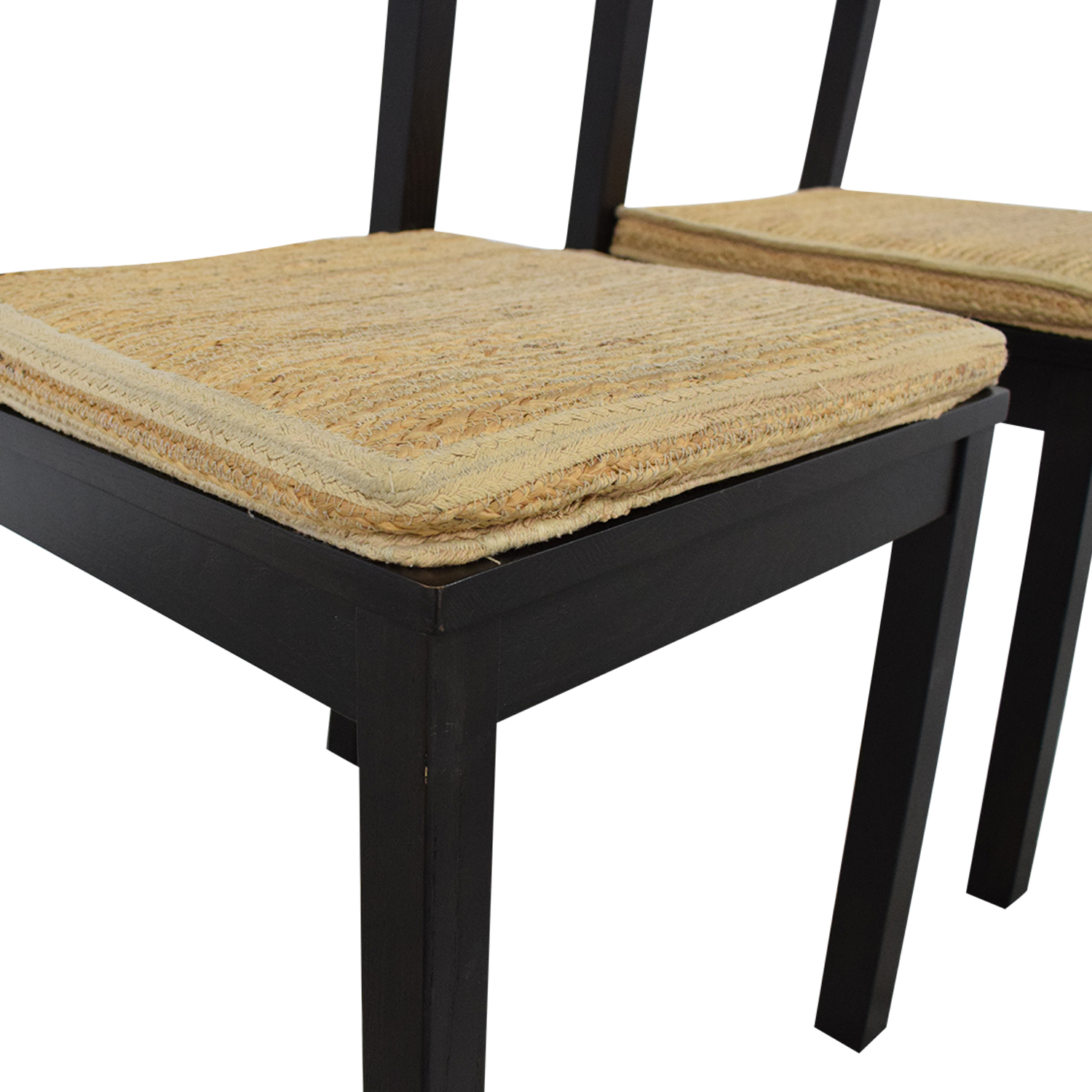 shop West Elm Dining Chairs with Woven Cushions West Elm Chairs
