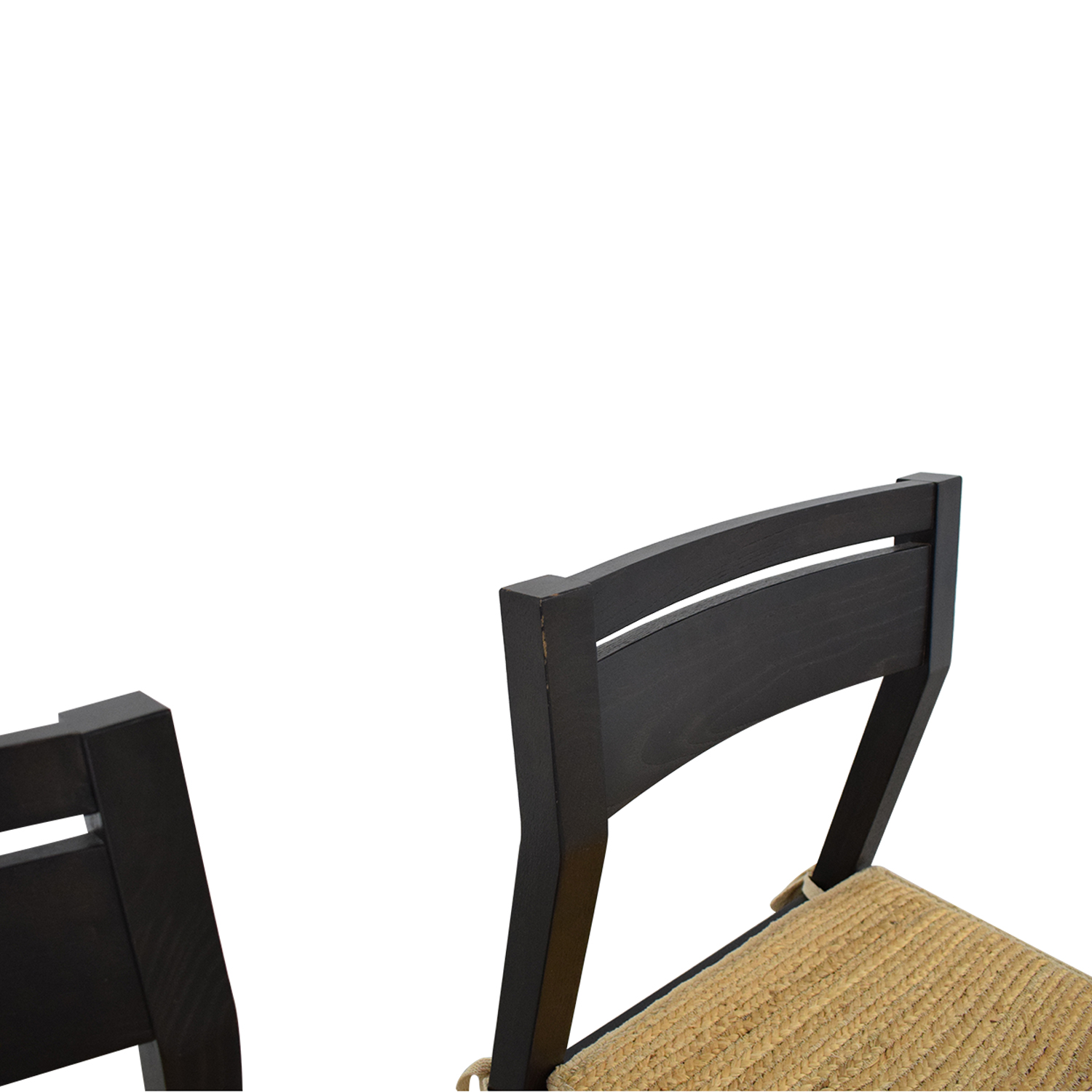 West Elm Dining Chairs with Woven Cushions / Dining Chairs