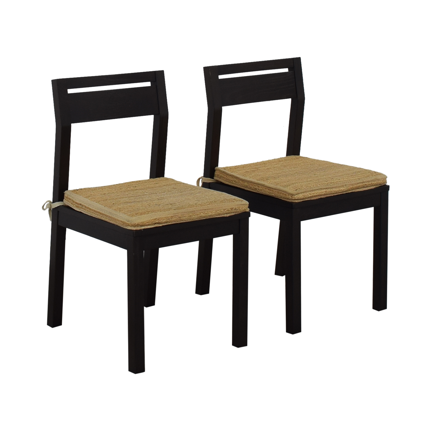 West Elm West Elm Dining Chairs with Woven Cushions second hand