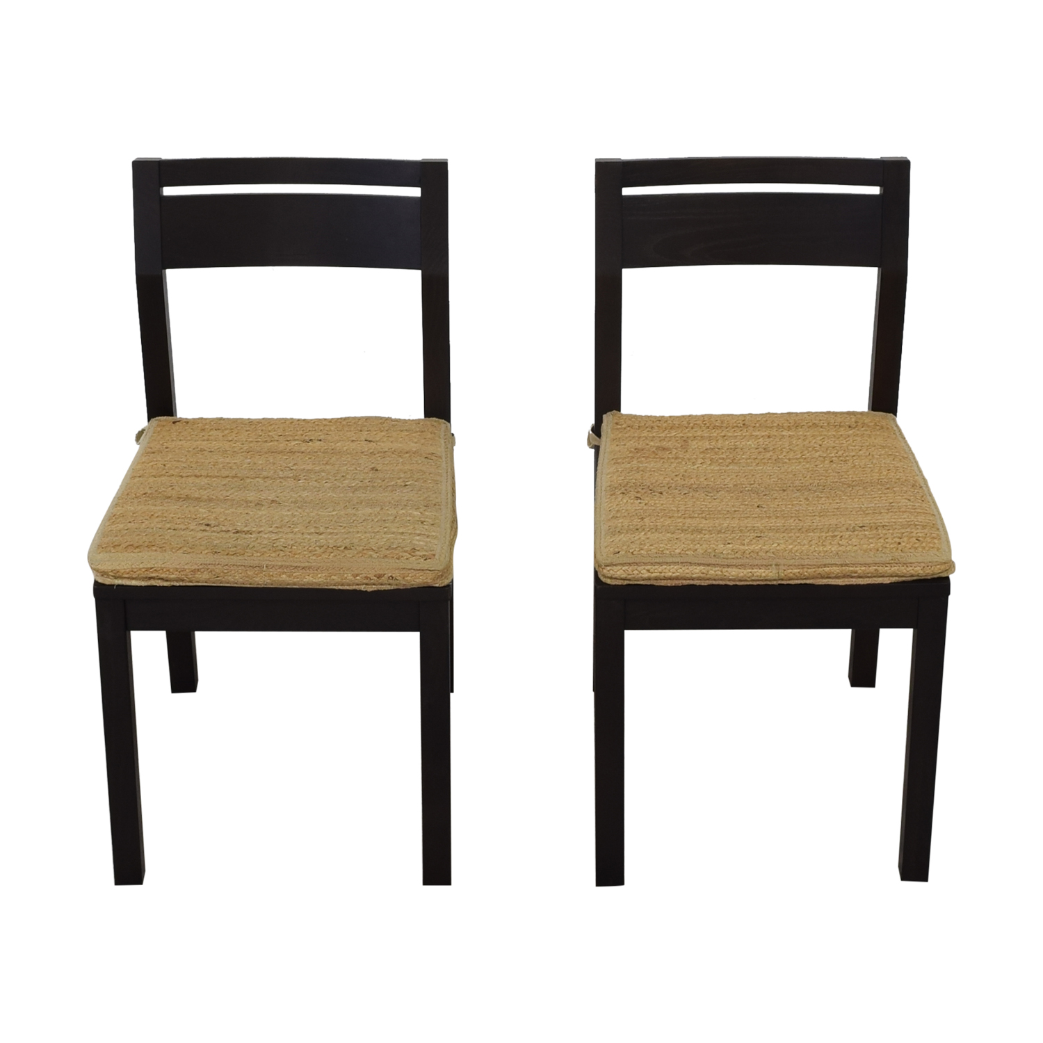 West Elm West Elm Dining Chairs with Woven Cushions price