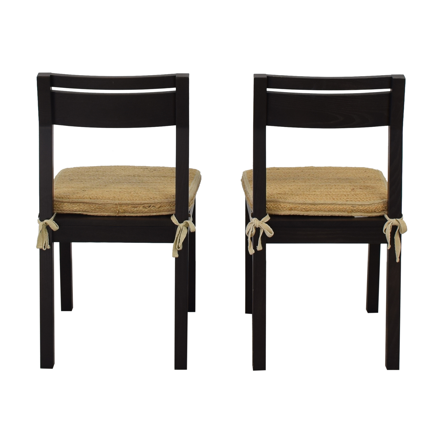 West Elm West Elm Dining Chairs with Woven Cushions nj