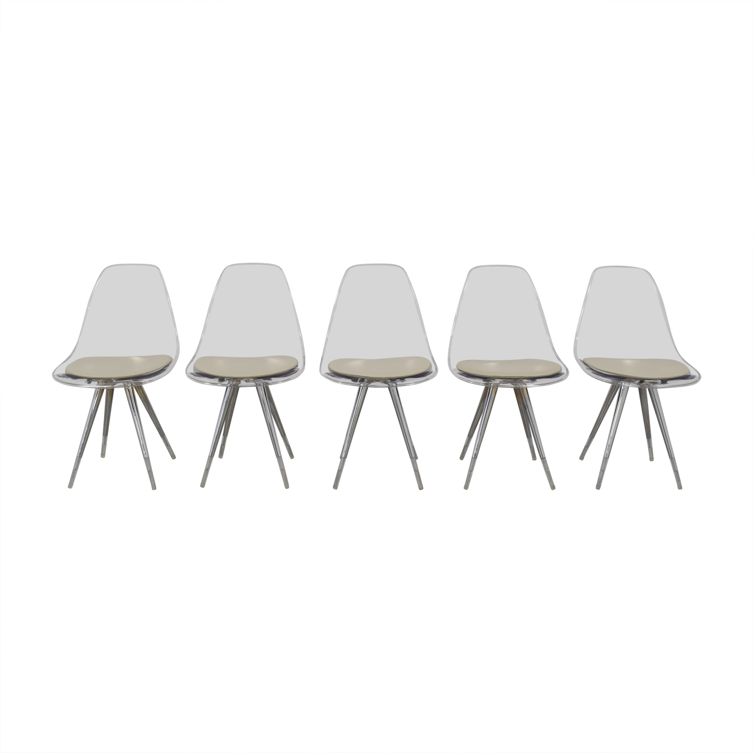 Cite NYC Lucite Dining Chairs with Custom Cushions sale