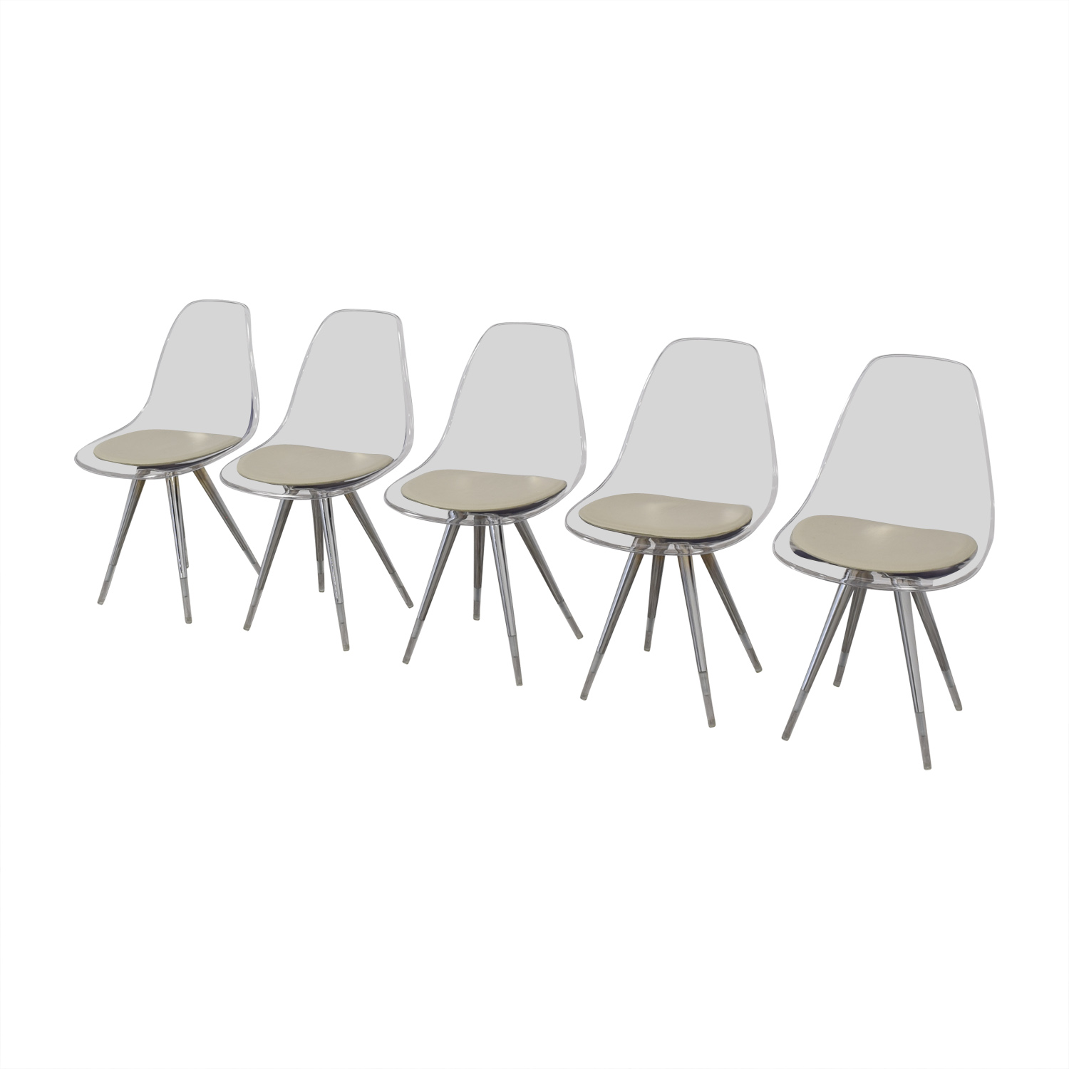 buy Cite NYC Lucite Dining Chairs with Custom Cushions Cite NYC Dining Chairs