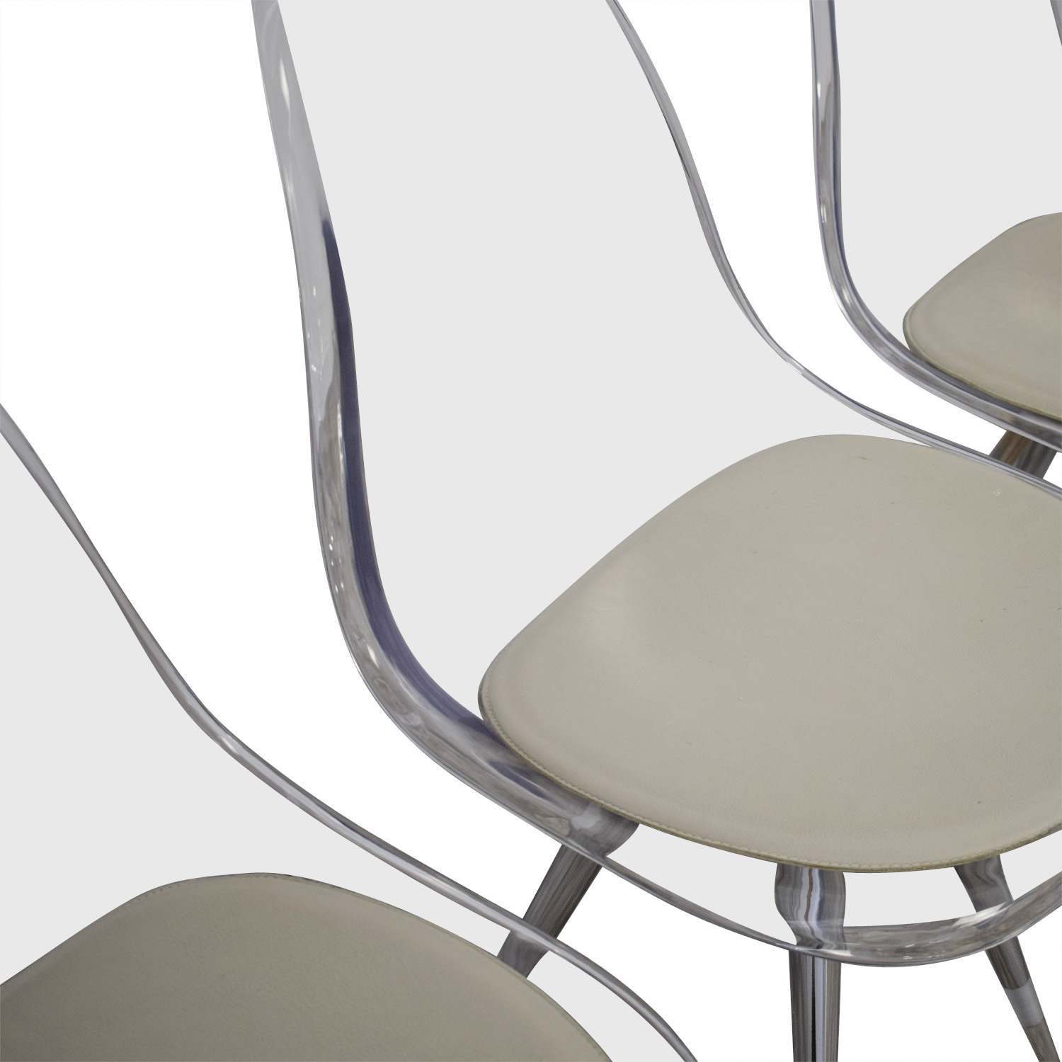 Cite NYC Cite NYC Lucite Dining Chairs with Custom Cushions dimensions
