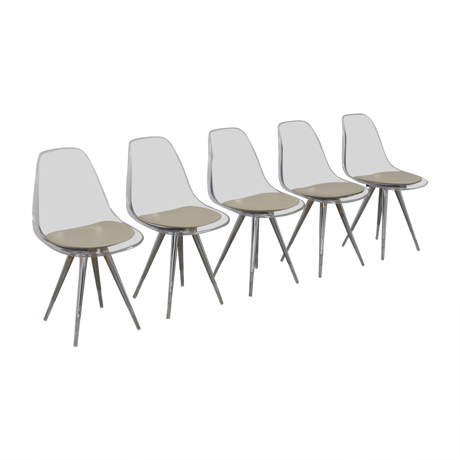 buy Cite NYC Lucite Dining Chairs with Custom Cushions Cite NYC