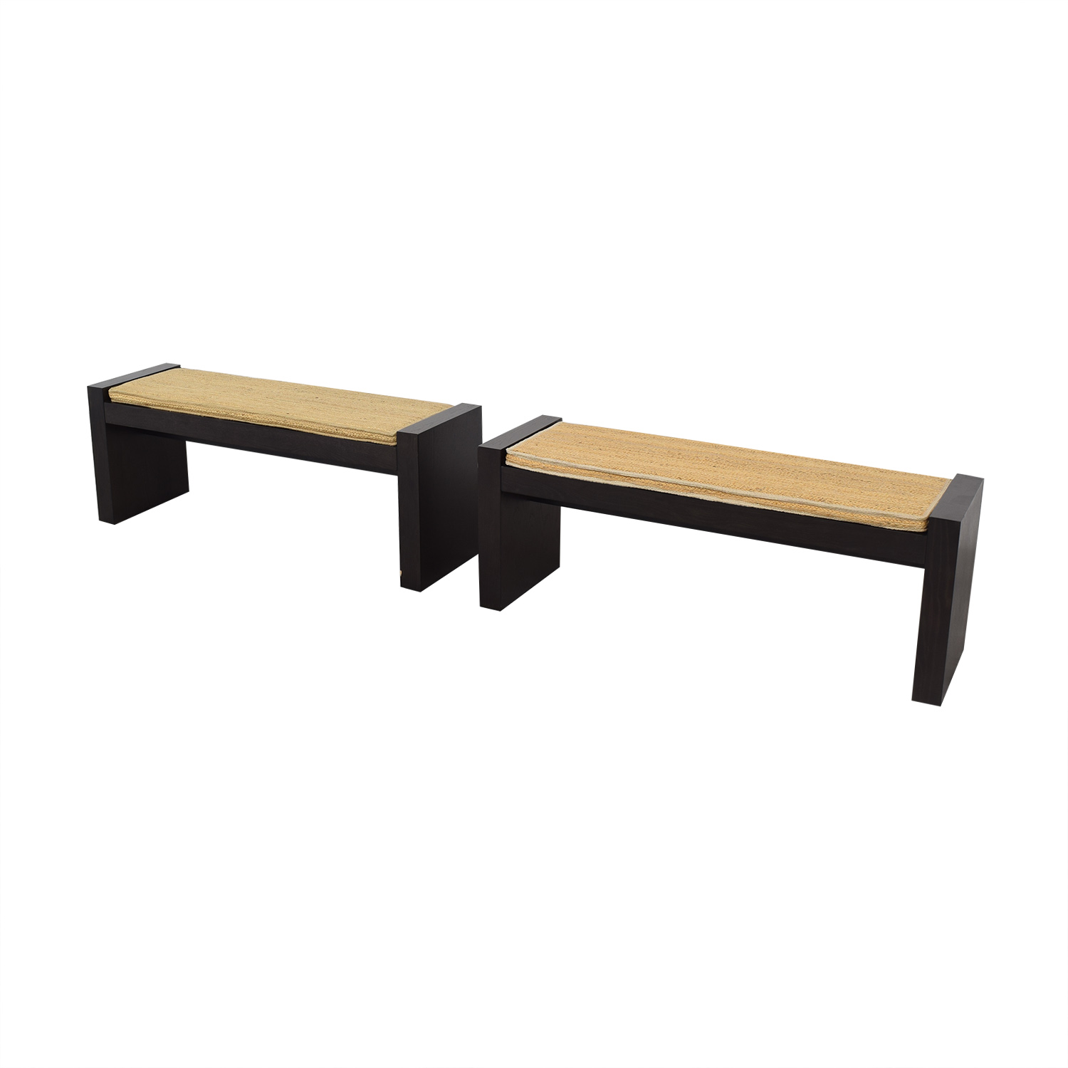 West Elm Terra Dining Benches with Woven Cushions / Chairs