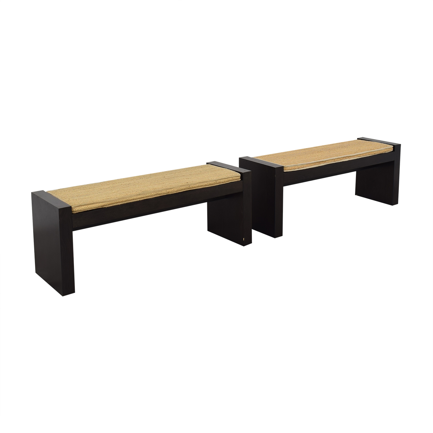 shop West Elm Terra Dining Benches with Woven Cushions West Elm Chairs