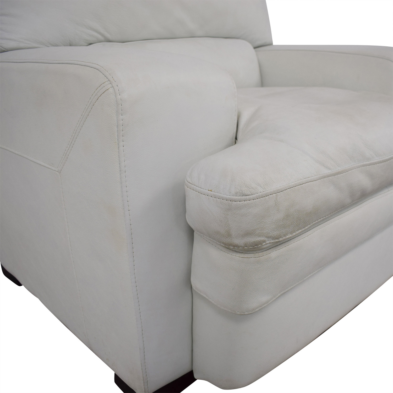 buy  Overstuffed White Armchair online