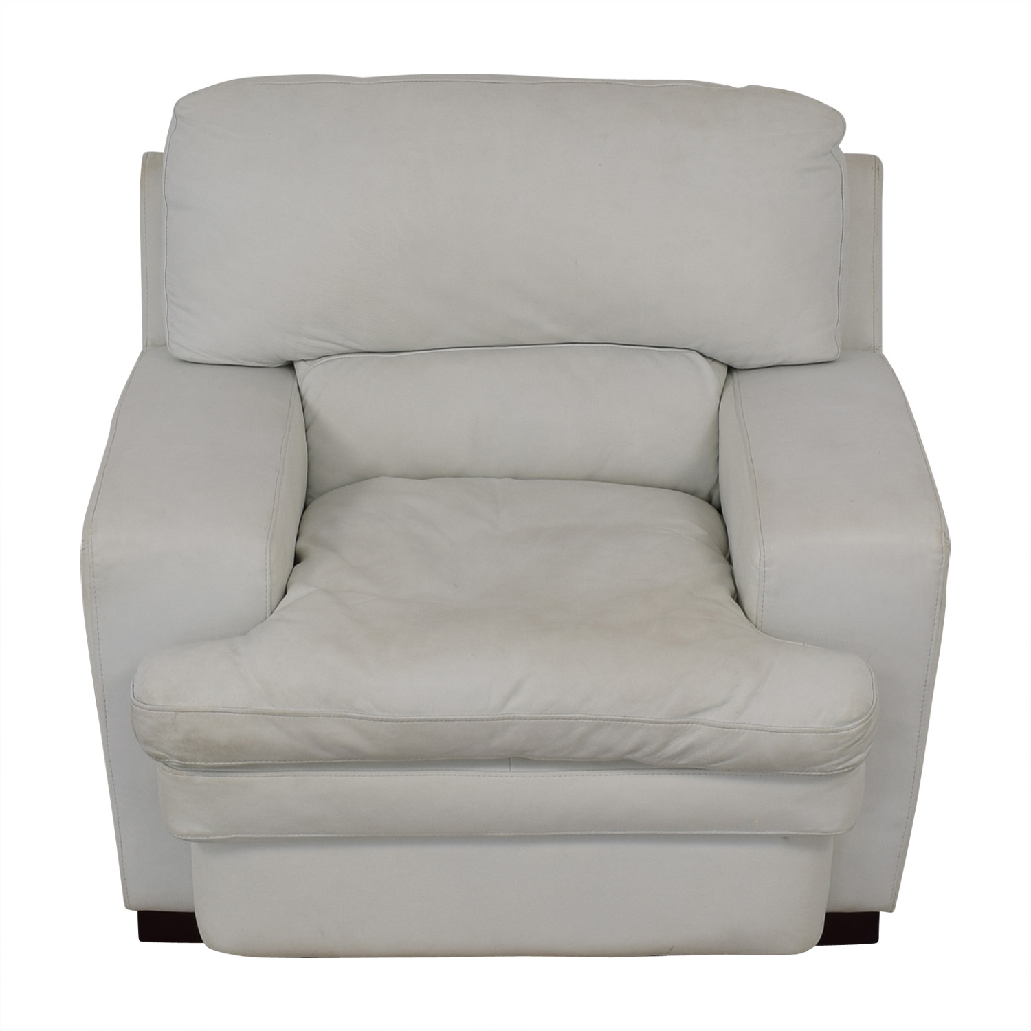 90% OFF - Overstuffed White Armchair / Chairs