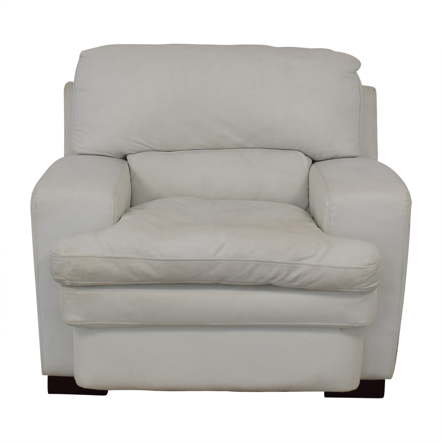 shop Overstuffed White Armchair  Chairs