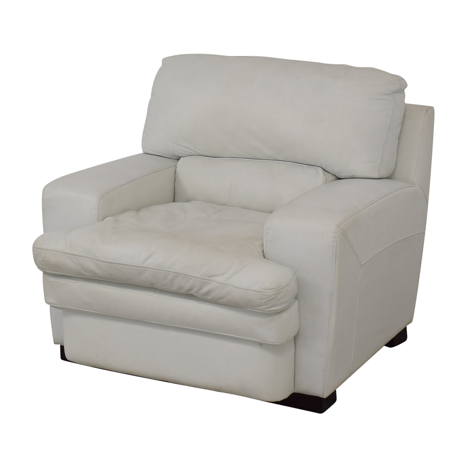 Overstuffed White Armchair dimensions