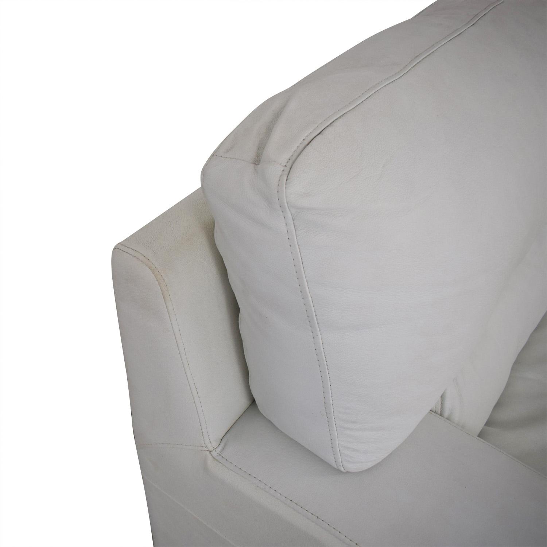 shop Overstuffed White Armchair