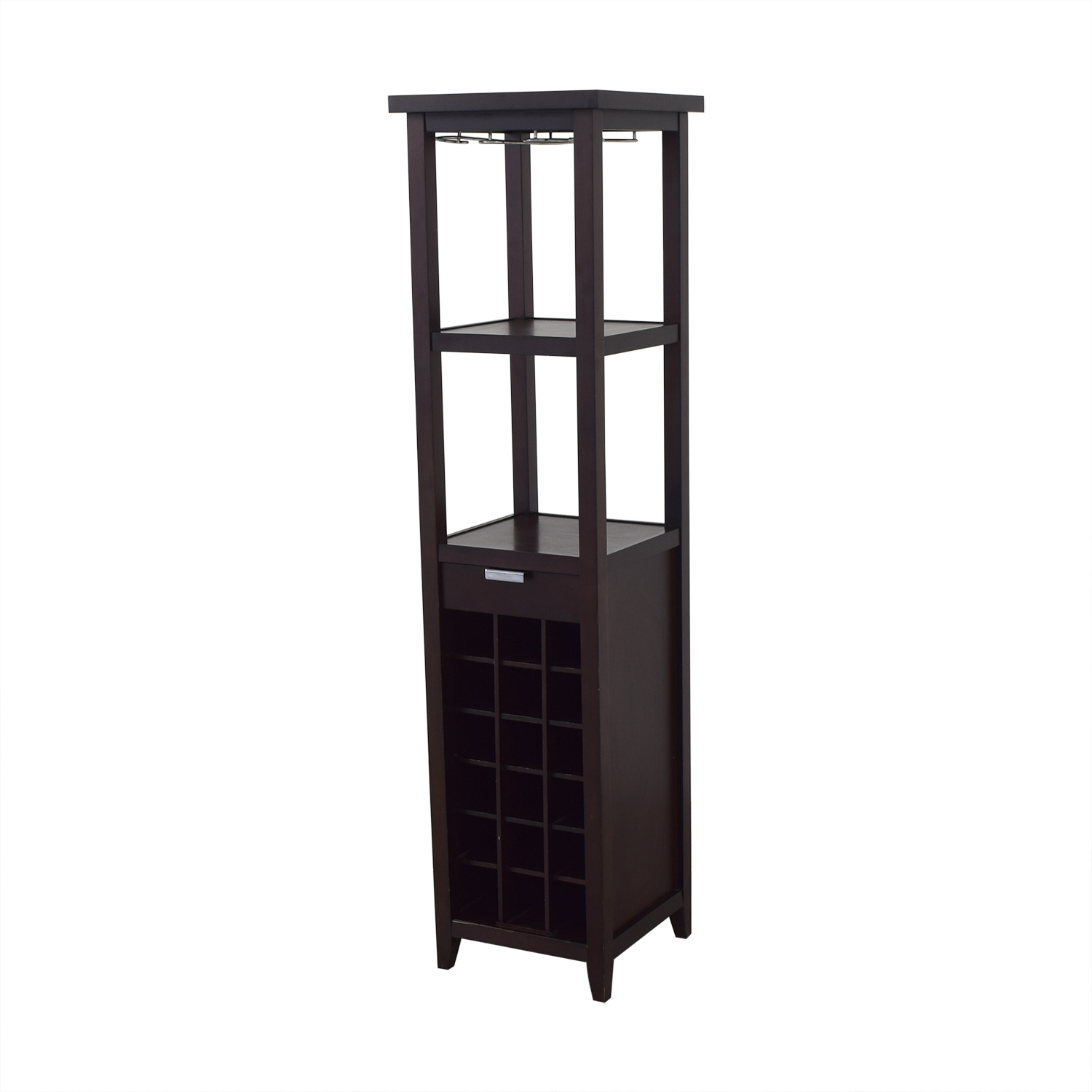 Crate & Barrel Crate & Barrel Wine Stand with Storage Storage
