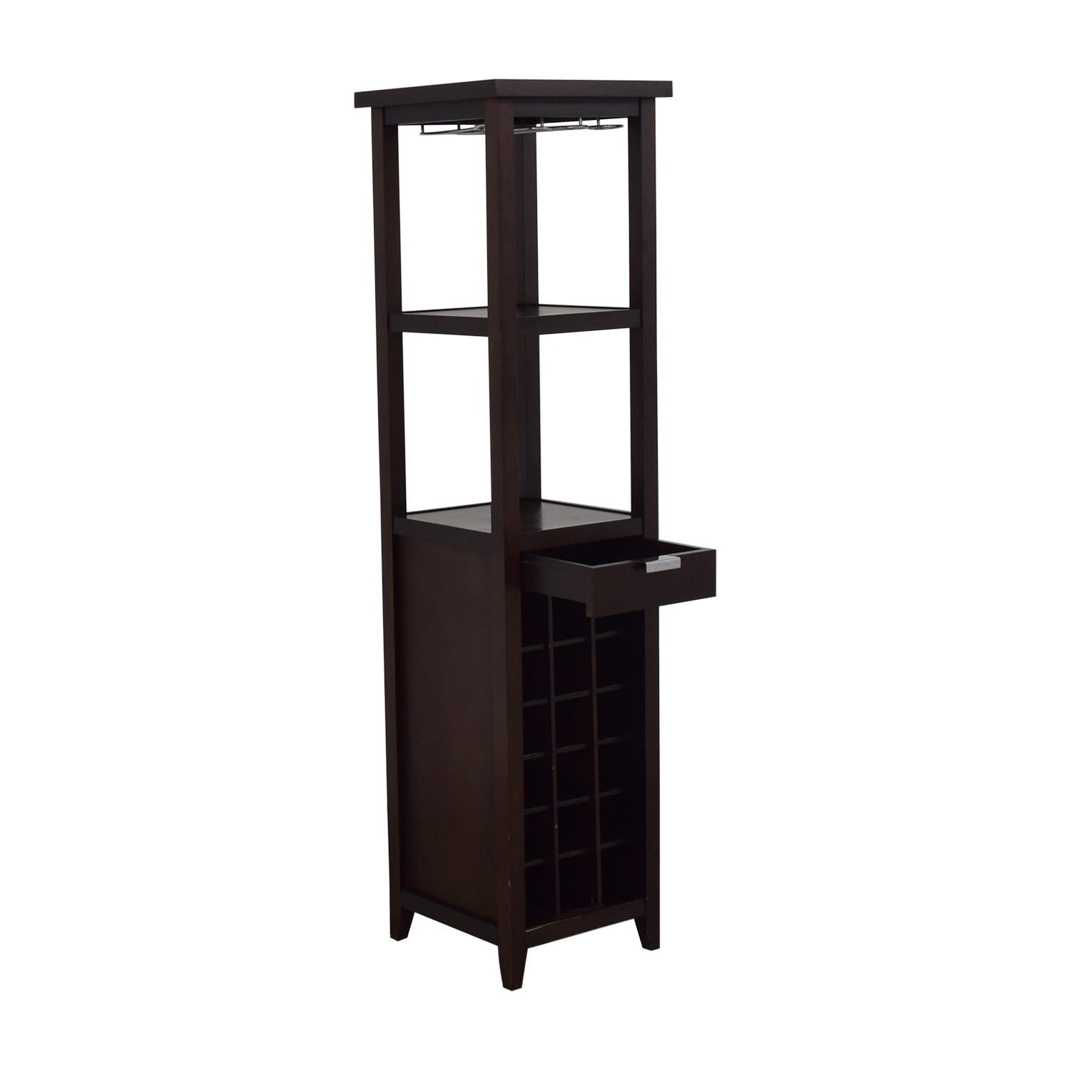 Crate & Barrel Wine Stand with Storage sale