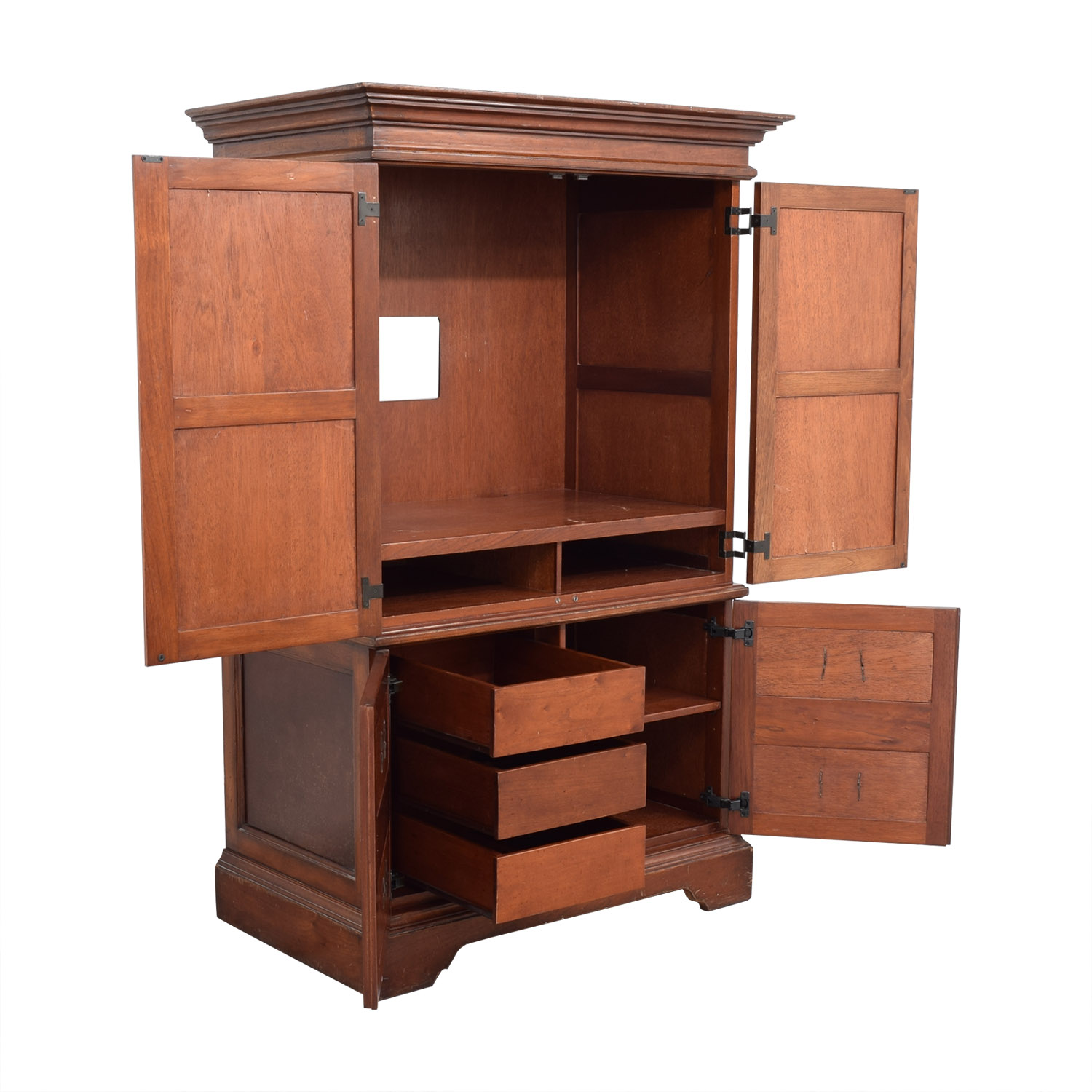 Domain Domain Armoire with Drawers brown