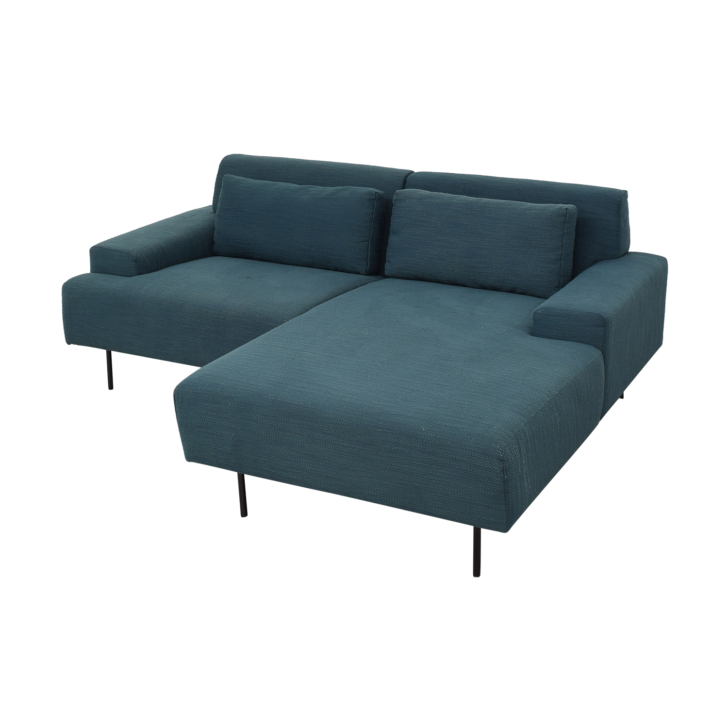 buy West Elm Two Piece Chaise Sectional Sofa West Elm Sofas