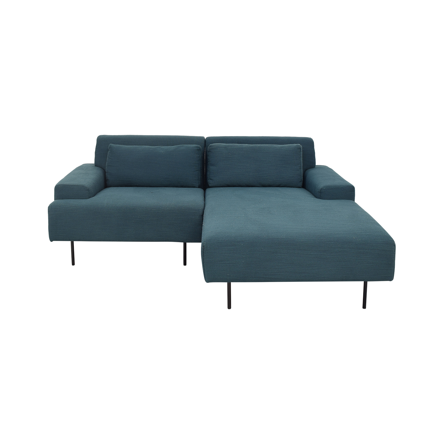 buy West Elm Two Piece Chaise Sectional Sofa West Elm