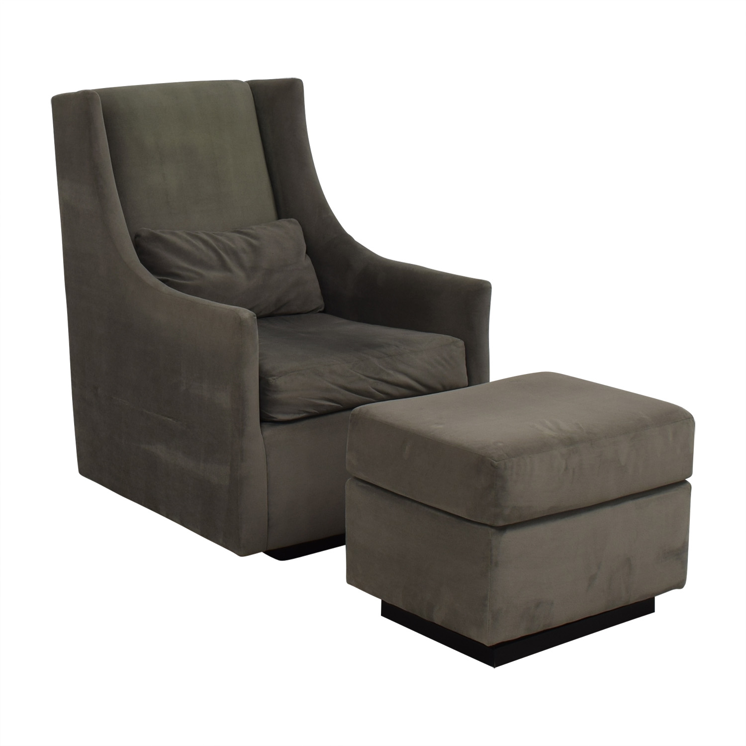 shop West Elm Graham Glider with Ottoman West Elm Chairs