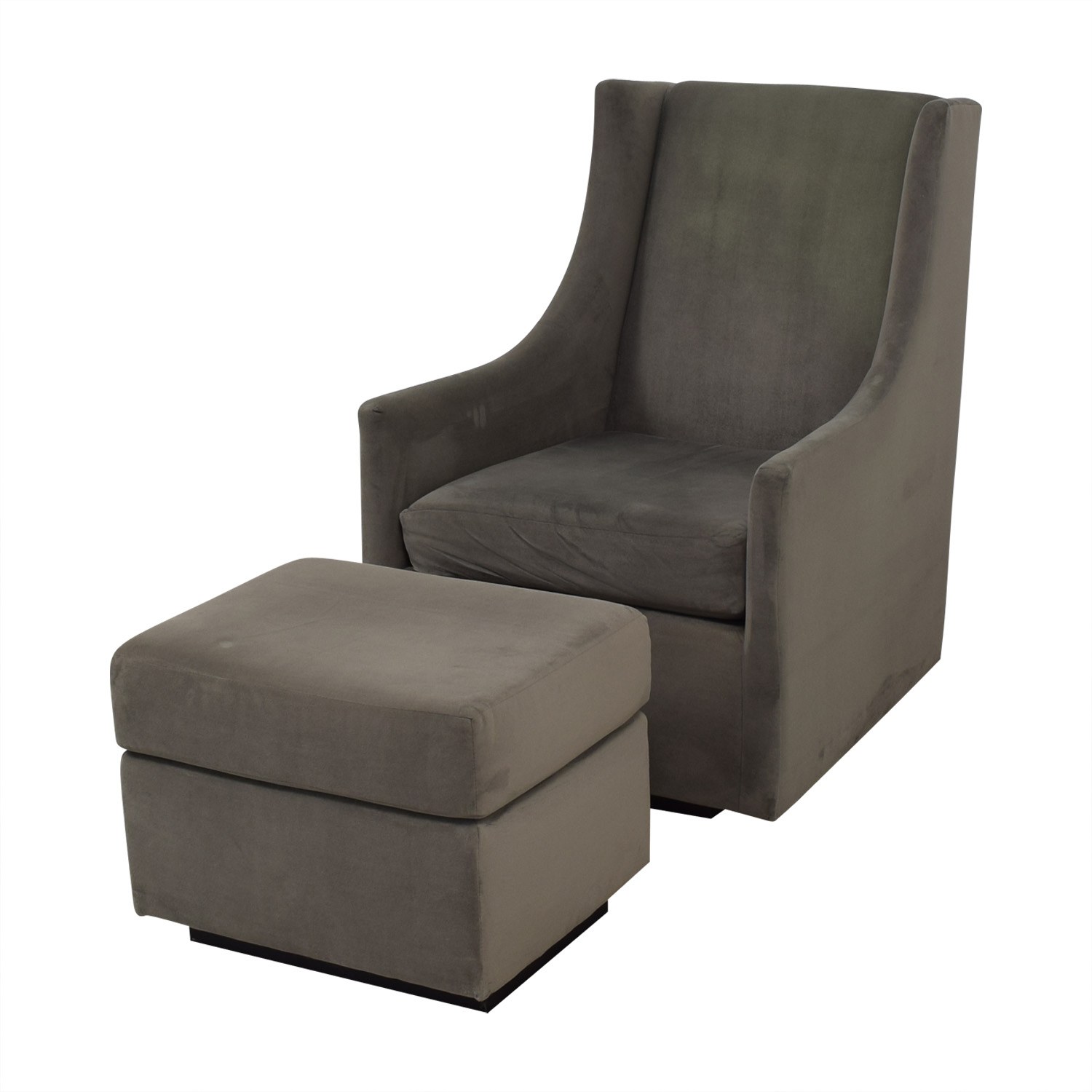 Outstanding 59 Off West Elm West Elm Graham Glider With Ottoman Chairs Pabps2019 Chair Design Images Pabps2019Com