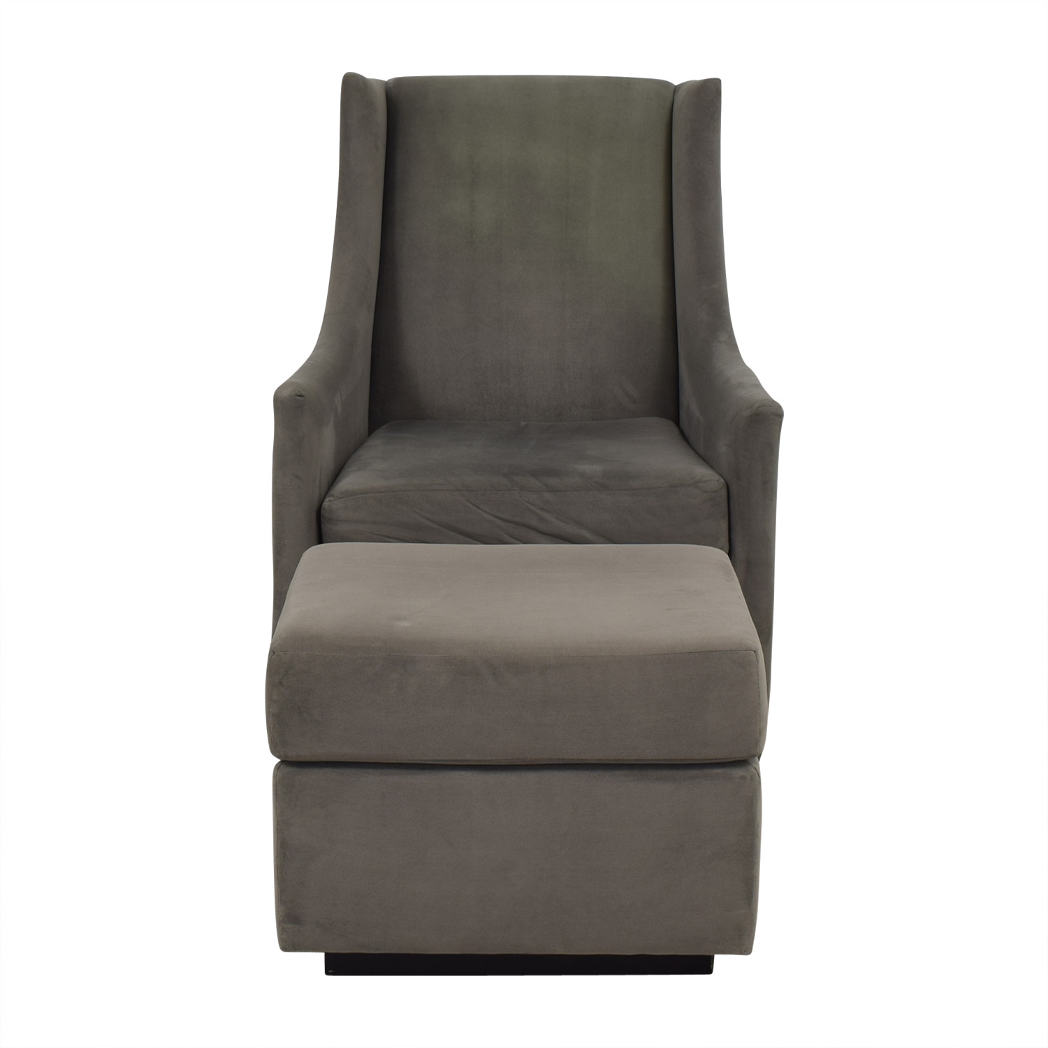 shop West Elm Graham Glider with Ottoman West Elm