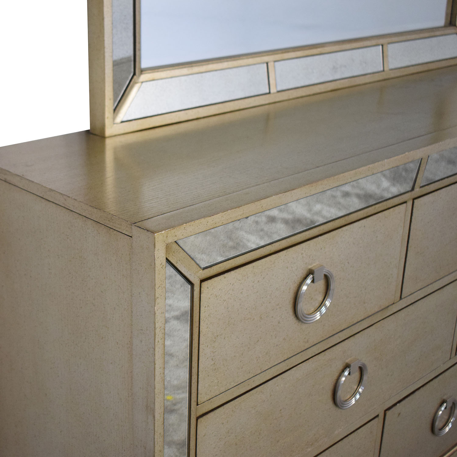 Macy's Macy's Ailey Collection Dresser with Mirror gray