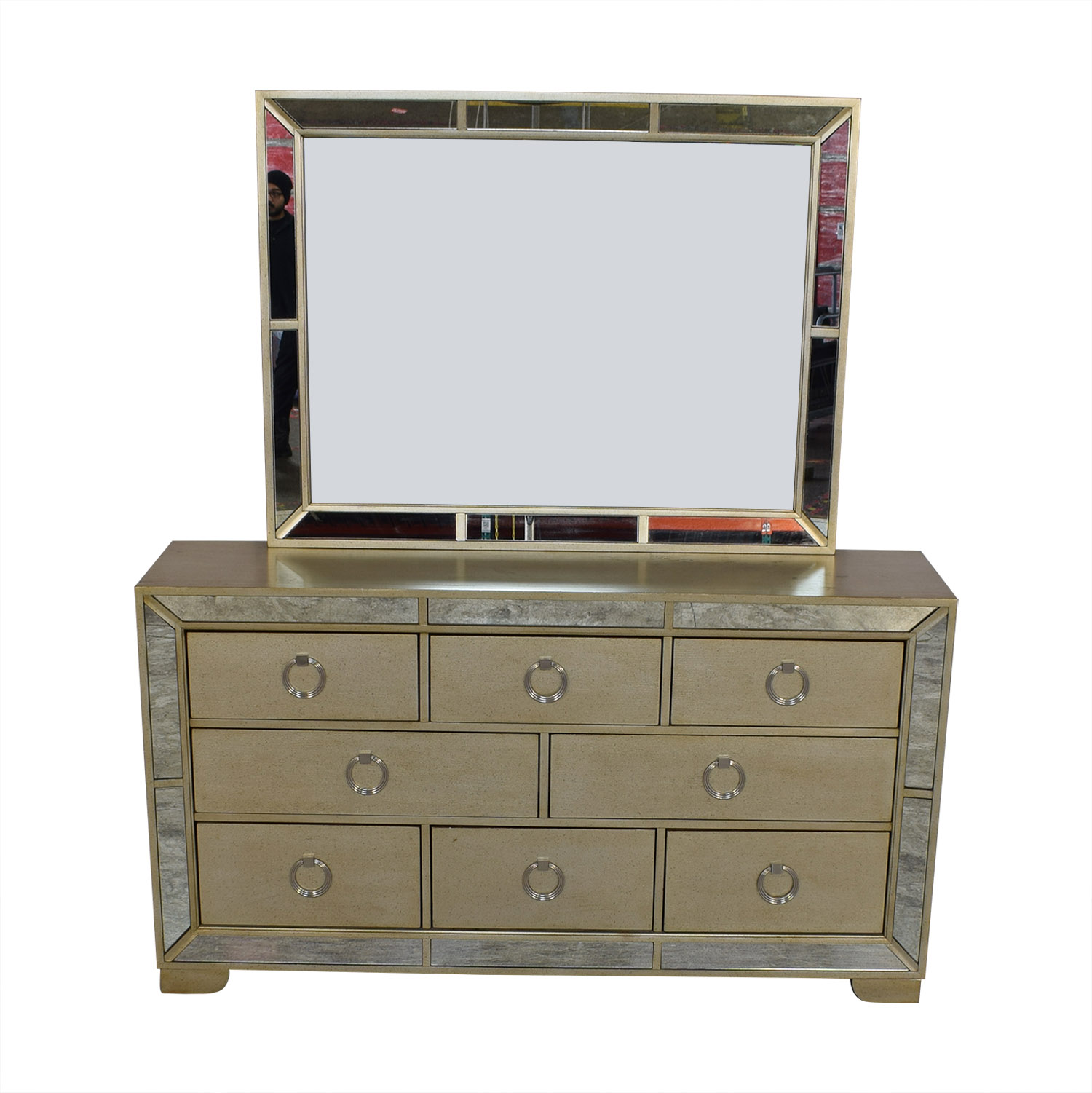 Macy's Macy's Ailey Collection Dresser with Mirror dimensions