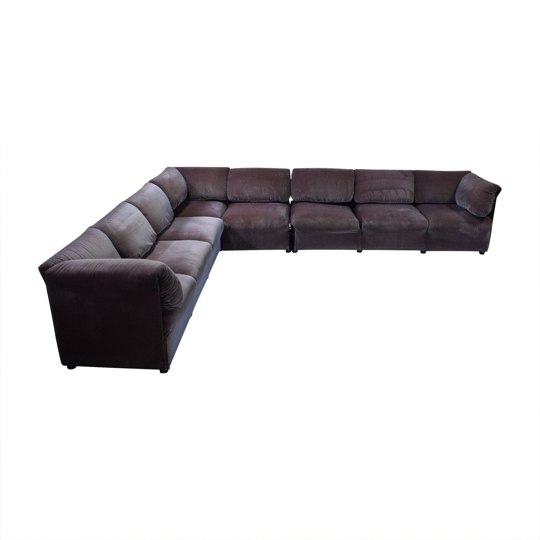 68% OFF - Cassina Cassina L Shaped Sectional Sofa / Sofas