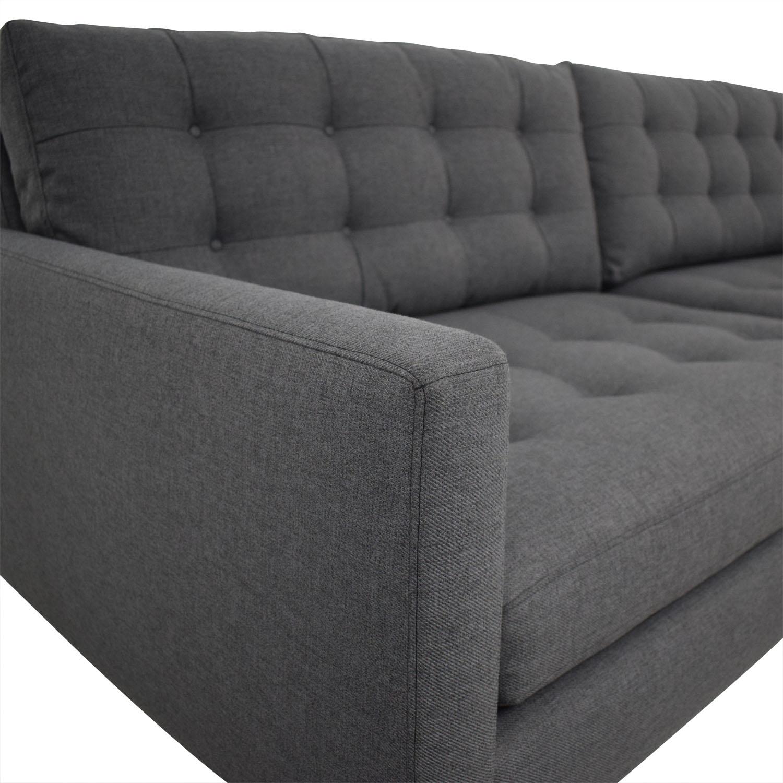 Excellent 32 Off Crate Barrel Crate Barrel Petrie Midcentury Sofa Sofas Pabps2019 Chair Design Images Pabps2019Com
