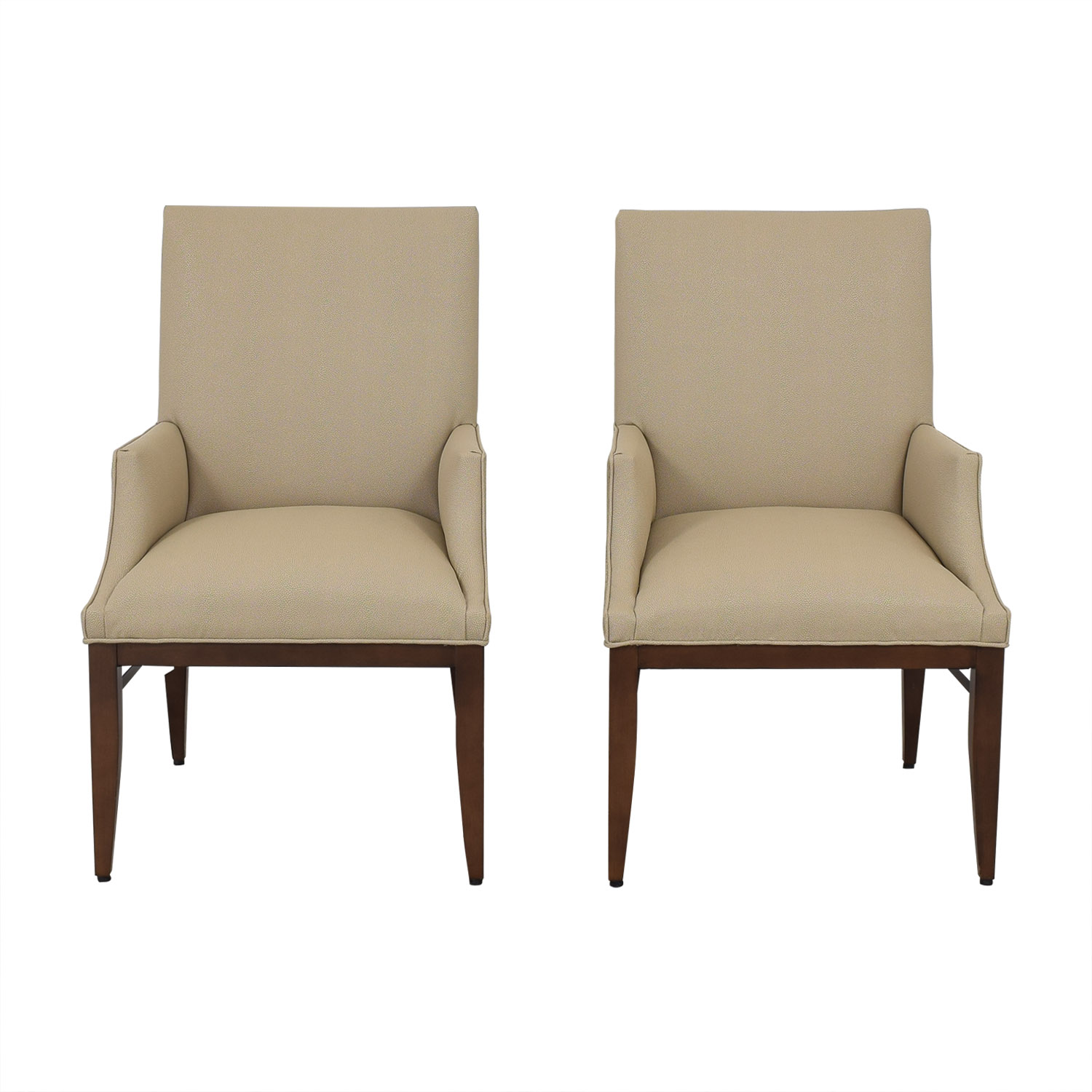 Duralee Duralee Custom Upholstered Dining Arm Chairs