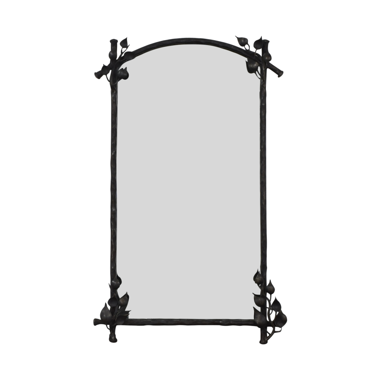 shop Mirror with Metal Working  Decor
