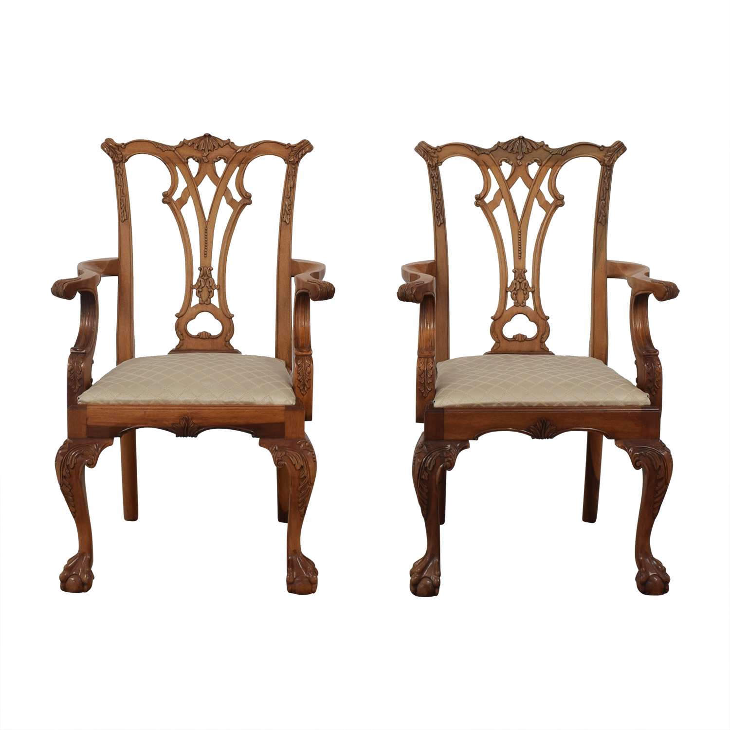 Chippendale Chippendale Arm Chairs for sale