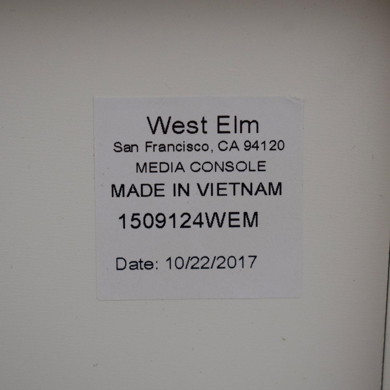 West Elm West Elm Reclaimed Wood + Lacquer Storage Short Media Storage